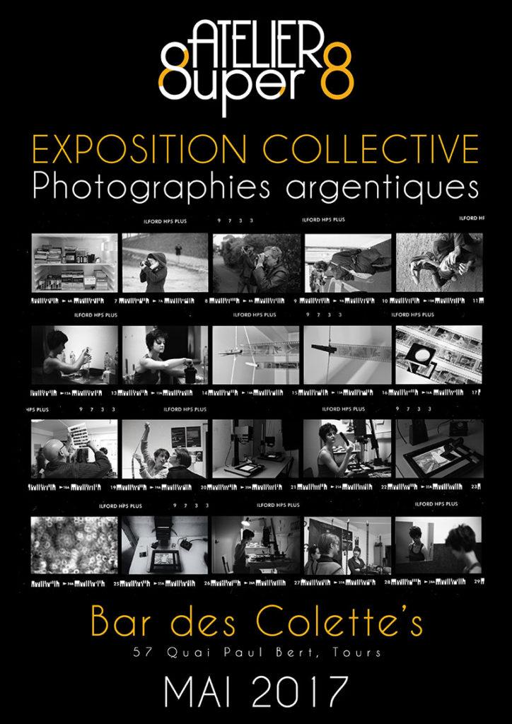 affiche de l'exposition collective au café collette's