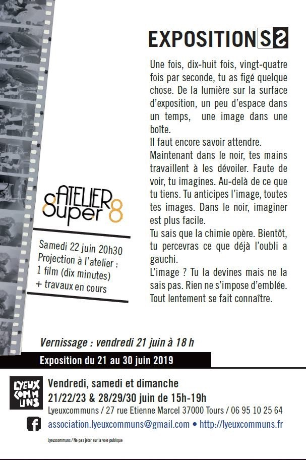 affiche de l'exposition de photos à la galerie Lyeuxcommuns programme