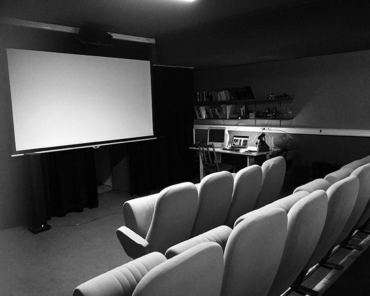 salle de projection de l'atelier super 8